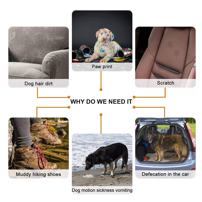 Cikuso Protector De Tronco De Perro Perro Impermeable Cubierta del Tronco para Perros Coche Funda Protectora Universal para Perro?con Cubierta Protectora De Protecci/ón Lateral