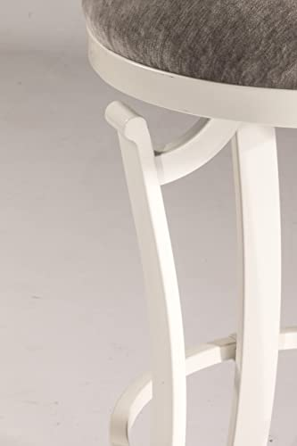 Hillsdale Kelford Backless Swivel Stool White, Bar, White Gray