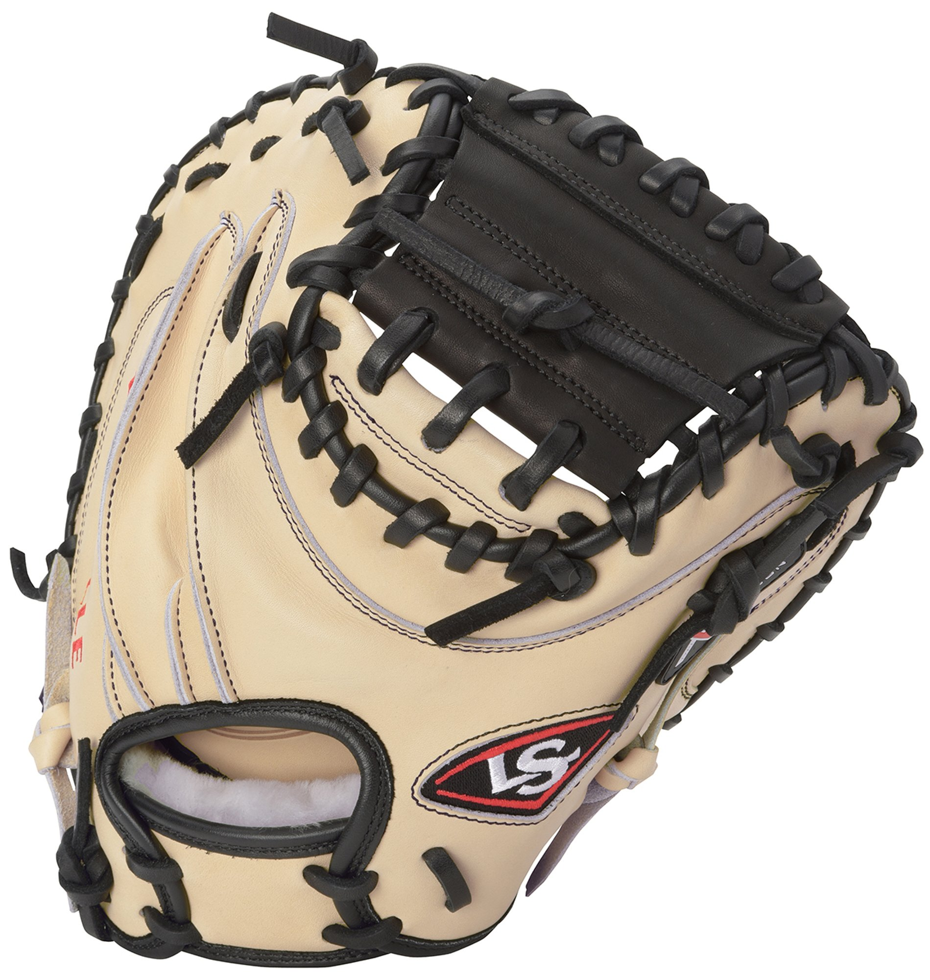 Louisville Slugger Pro Flare Catcher's Mitt, Cream/Black, Right Hand Throw by Louisville Slugger