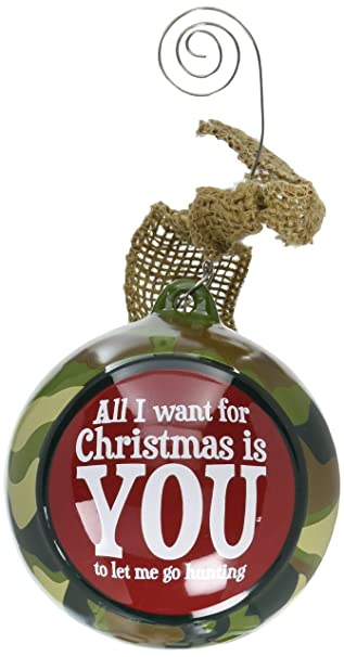 Amazon.com: Hunters Camouflage Christmas Tree Ornament with