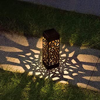 GYBYB LED Estaca solar Linterna de luz Luces de camino con energía solar Lámpara decorativa de jardín para jardín Patio2020@Yellow_0.24W: Amazon.es: Iluminación