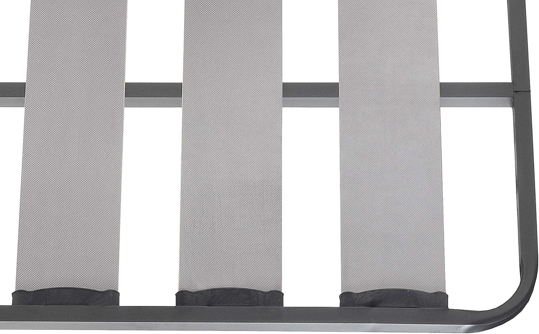 Somier Lama Ancha Reforzada | Láminas de Abedul | Tacos Anti-Ruido | Patas cilindricas | Perfil 40x30 Esquinas Curvas | Fabricación Nacional (105 x ...