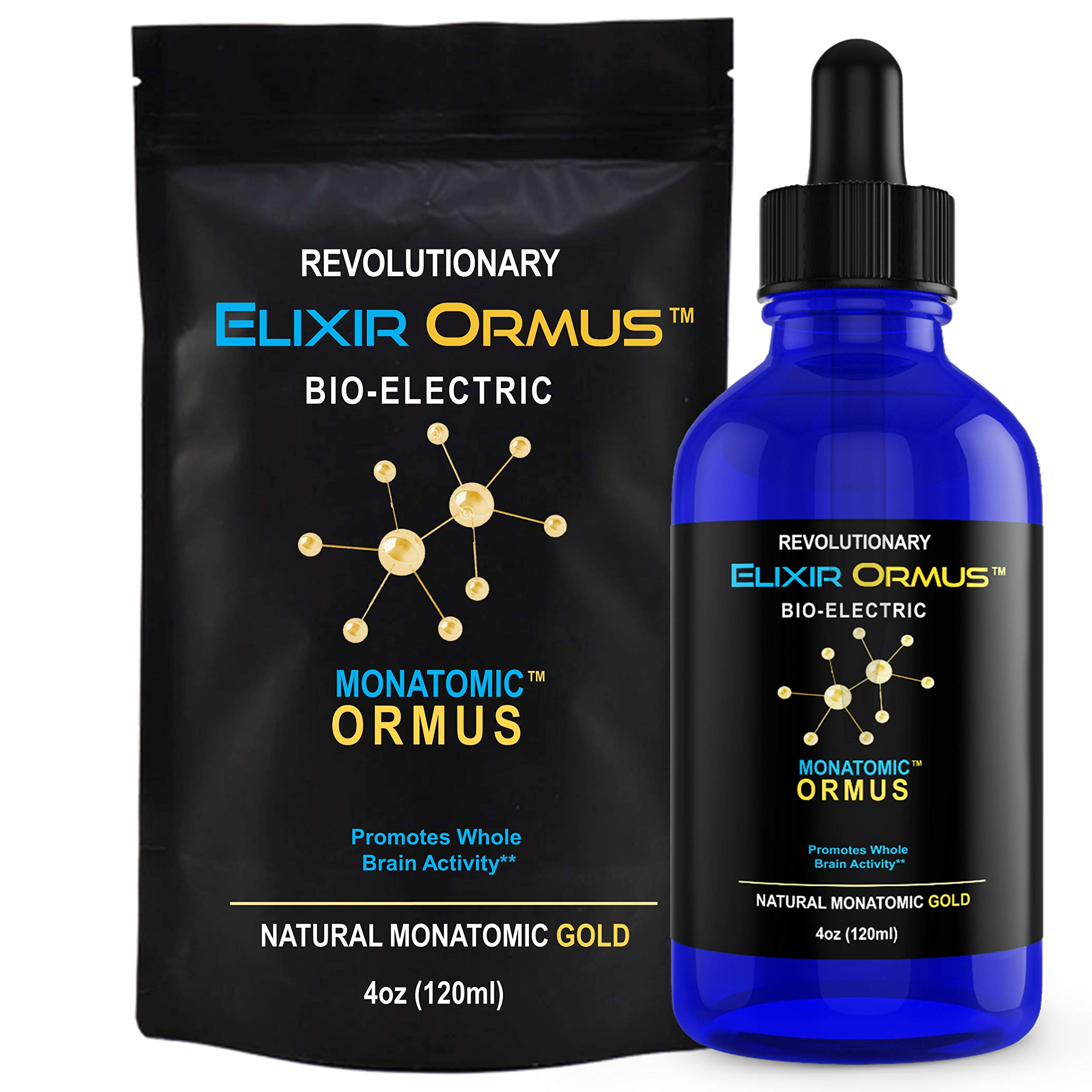 Elixir ORMUS - 4oz - Monoatomic Gold - Manna, Memory AID, Energetically, Monatomic White Powder Gold, Increased Energy, Stamina, Vitality - Gold, Platinum, Iridium