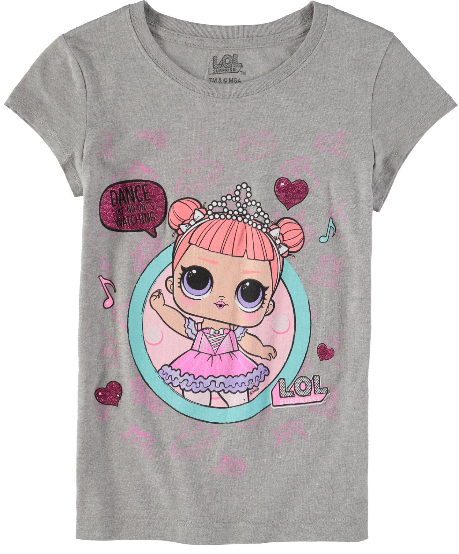 ce26885c93c5 L.O.L. Surprise! Girls' Short-Sleeve T-Shirt 4-Pack - Toys