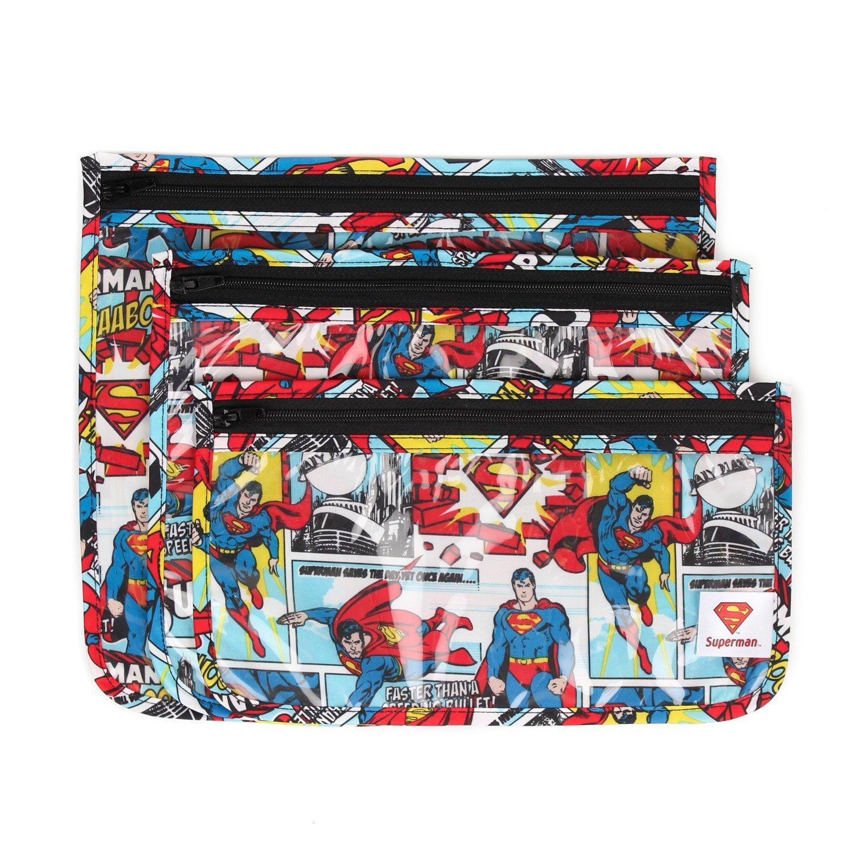 Bumkins DC Comics Clear Travel Bag-3 Pack, Wonder Woman ZB3-WBWW30