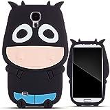 Zooky® Noir VACHE silicone Coque / Étui / Cover pour Samsung Galaxy S4 (I9500)