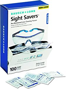 Bausch & Lomb BAL8574GM Pre-Moistened Lens Cleaning Tissues, Box of 100 - Packaging May Vary, Multi