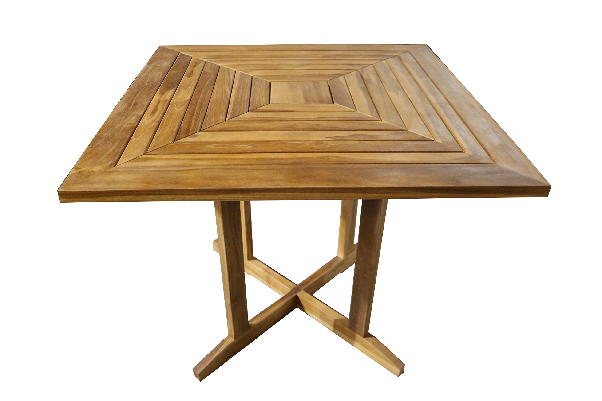 "ALATEAK Wood Patio Outside Indoor Outdoor Garden Yard Waterproof 35"" Table - 35 x 35 x 29 - Sustainably Harvested 100% Solid Teak Wood Geniune Teak Wood is naturaly mold and mildew resistant Naturally Water Resistant & Durable (Indoor or Outdoor Use) - patio-tables, patio-furniture, patio - 81dl9BERxfL -"