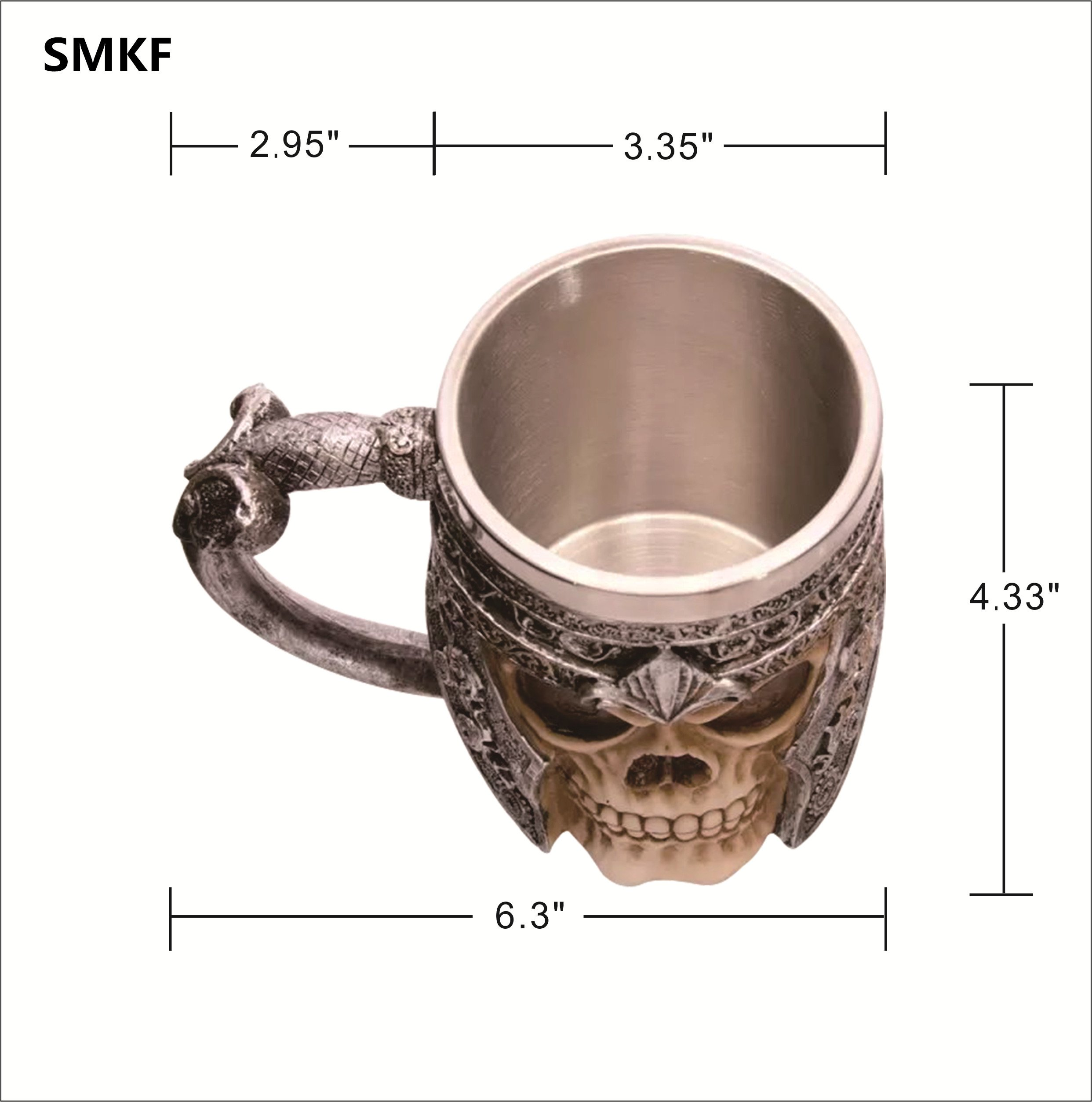 SMKF Stainless Steel Skull Coffee Mug For 3D Design