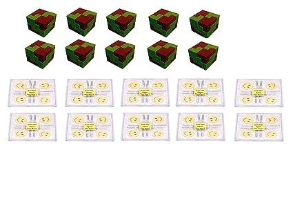 Virgo Toys I Qube Puzzle & Brain Lock (Combo) - Pack of 10