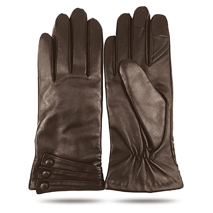 Vintage Style Gloves iGT CLASS Womens Touch Screen Winter Texting Leather Gloves $34.95 AT vintagedancer.com