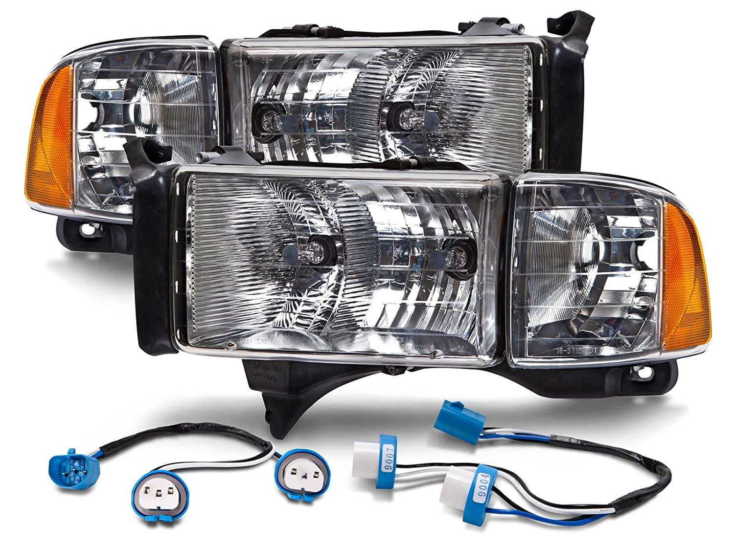 81dlEuep7%2BL._SL1500_ amazon com dodge ram truck sport model conversion set w wiring 2001 dodge ram 3500 headlight wiring diagram at crackthecode.co
