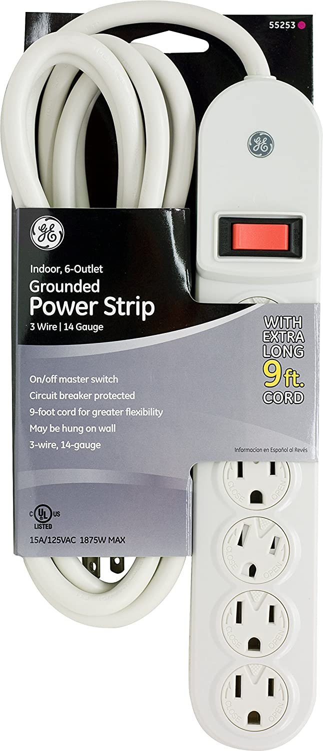 GE Indoor 6 Outlet Grounded 55253 Image 2