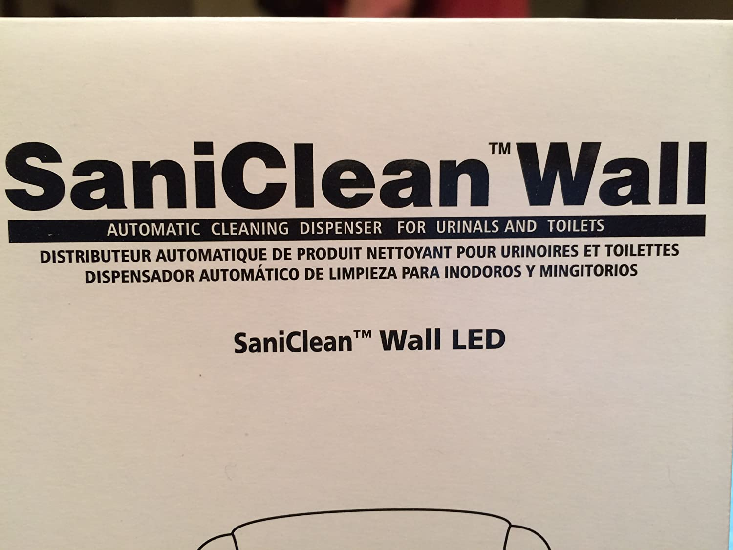 Amazon.com: SaniClean Wall Automatic Fixture Cleaning System LED Dispenser Continuous Cleaning and Drain Maintenance System for Toilets and Urinals: Office ...