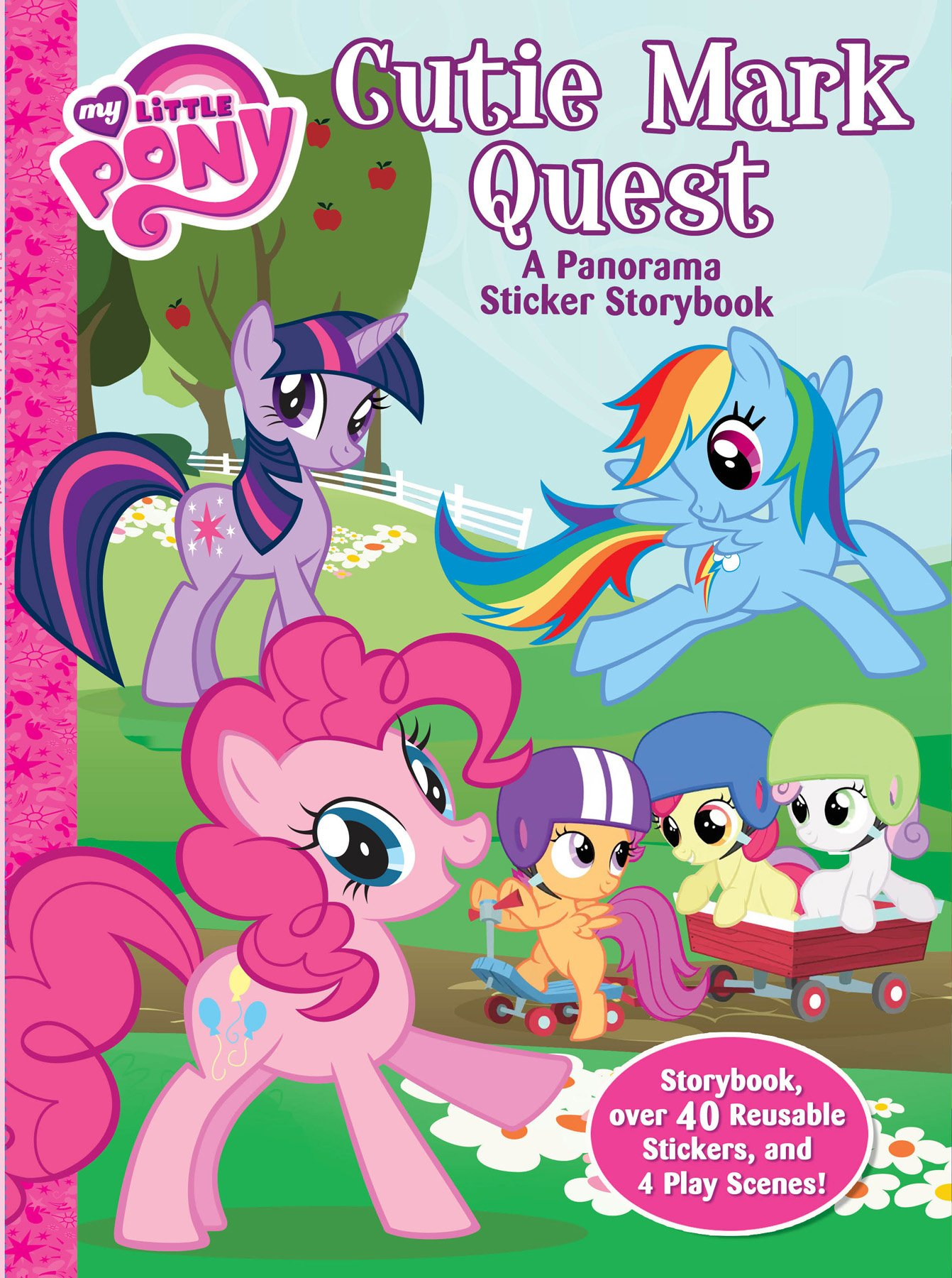 Download My Little Pony: Cutie Mark Quest: A panorama sticker storybook pdf epub