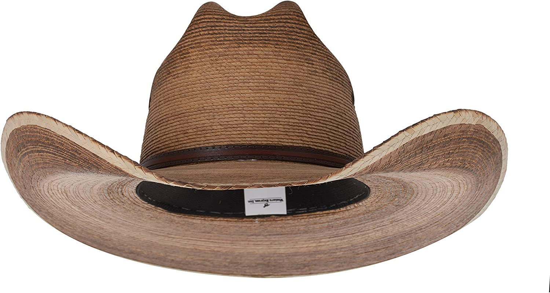 Mens Western Light Brown Cattleman Palm Hat