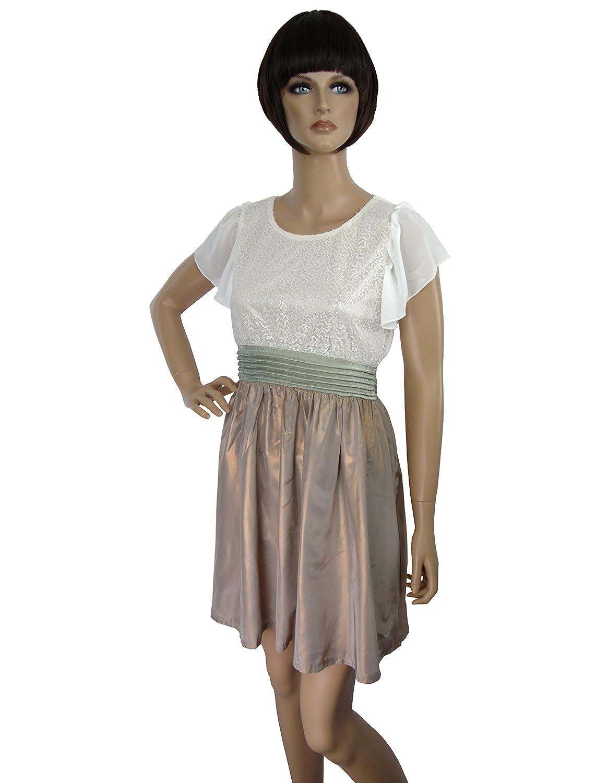 Yumi Angelika Kleid, Prinzessinnen Kleid, Bronze-weiß, Rosa-weiß S - L