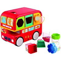 Giggles Shape Sorting Bus, Red