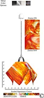 product image for Jezebel Signature JRNI-FP12-ZIN-TRNI Nickel Flame Track Light, Small, Zinnia