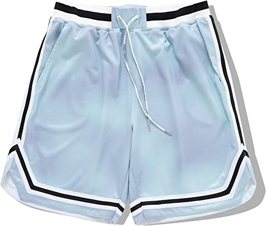 nobrand ZONEiD Mens Basketball Shorts Quick-Dry Shorts with Side Pockets