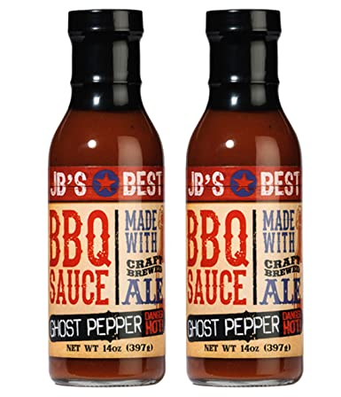 Amazon Com Jbs Ghost Pepper Bbq Sauce 2 14 Oz Jb S Best Sauces W Craft Brewed Ale All Natural Barbeque Chefs Grilling Uses Marinade Dips Glaze For Beef Chicken Pork Fish Jbgp2p