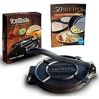 Tortillada – Wysokiej jakości prasa do tortilli z żeliwa wraz z przepisami (16cm)