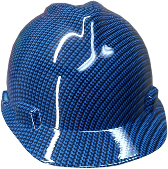 Custom Painted Hard Hat Metallic Graphite MSA V-Gard Cap Style