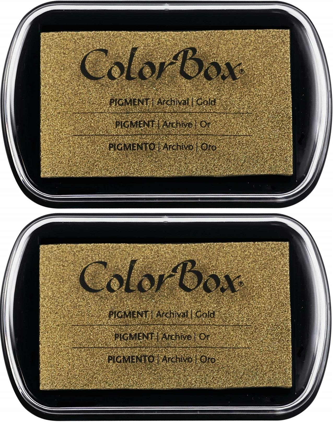 Pigment Ink Pad Color: Metallic Gold (2 Pack)