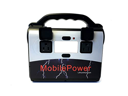 Emergency Power Bank - MobilePower, 200 Watt Inverter Power Bank with AC outlets for Power on The go and Emergency