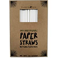 Papierrietjes - Milieuvriendelijk biologisch afbreekbaar Drinkrietjes - 100 stuks (Jumbo 210x8mm) Recyclebaar en…