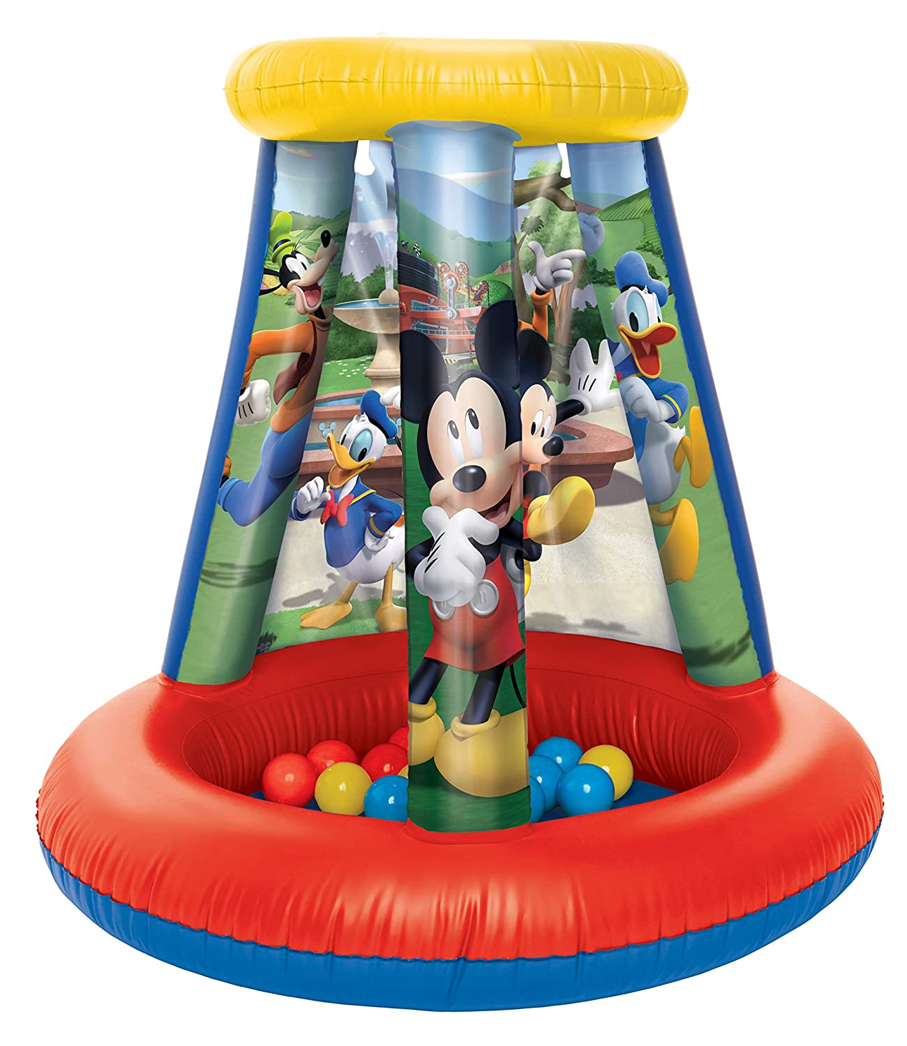 Amazon.com: Mickey Mouse Ball Pit 1 Inflable + 15, Sof-Flex ...