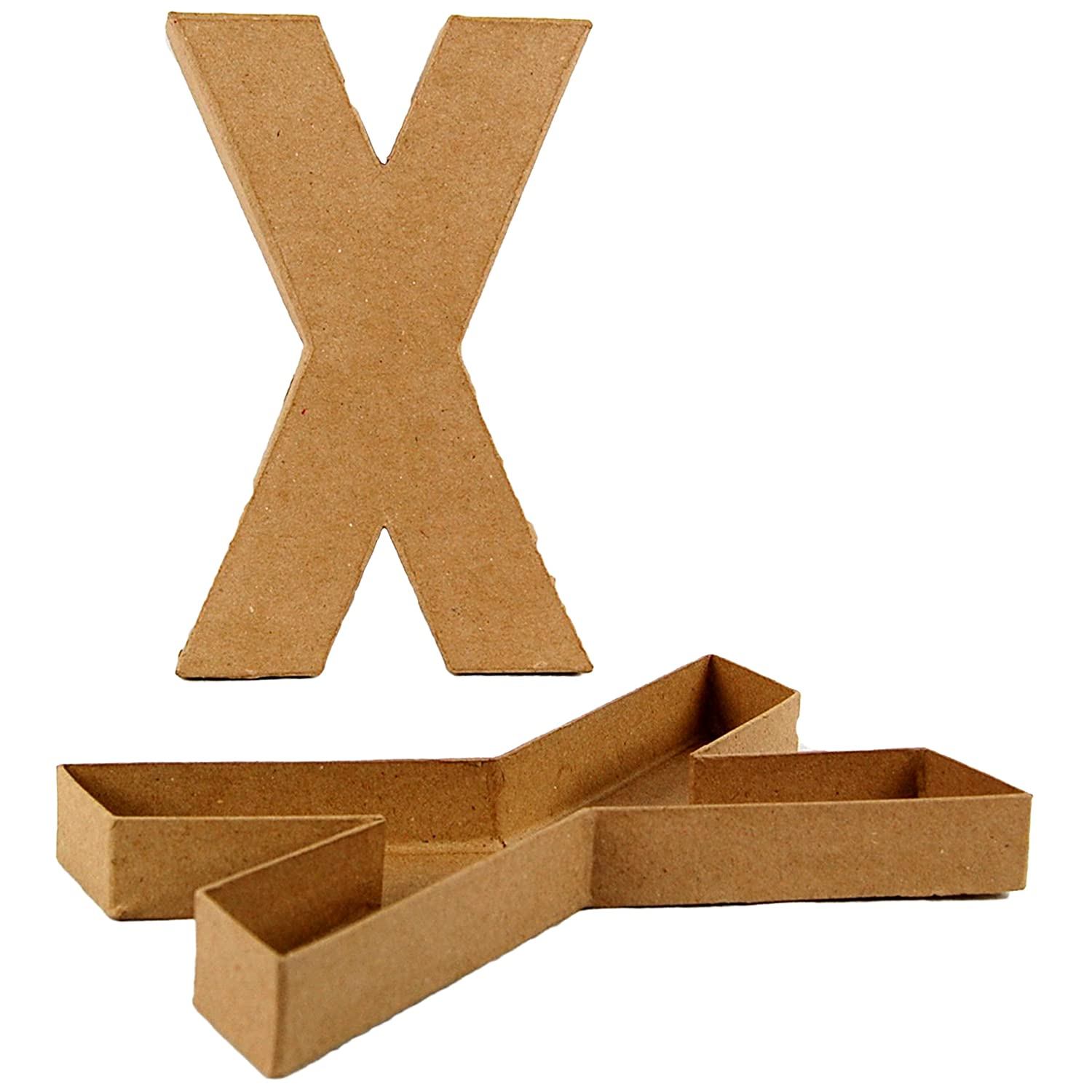 Country Love Crafts 8 25 inch 20 5cm Letter X Shaped Box Papier