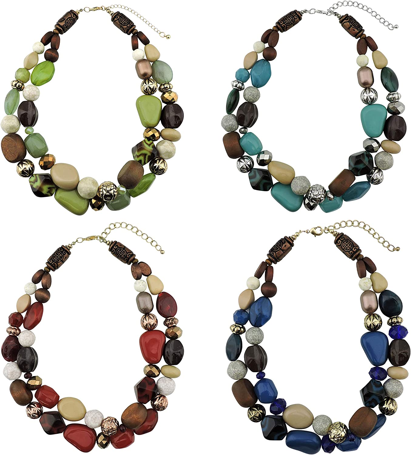 Plus Size Adjustable Acrylic Pearl Leather Necklace Gifts for Girls Gifts for Her
