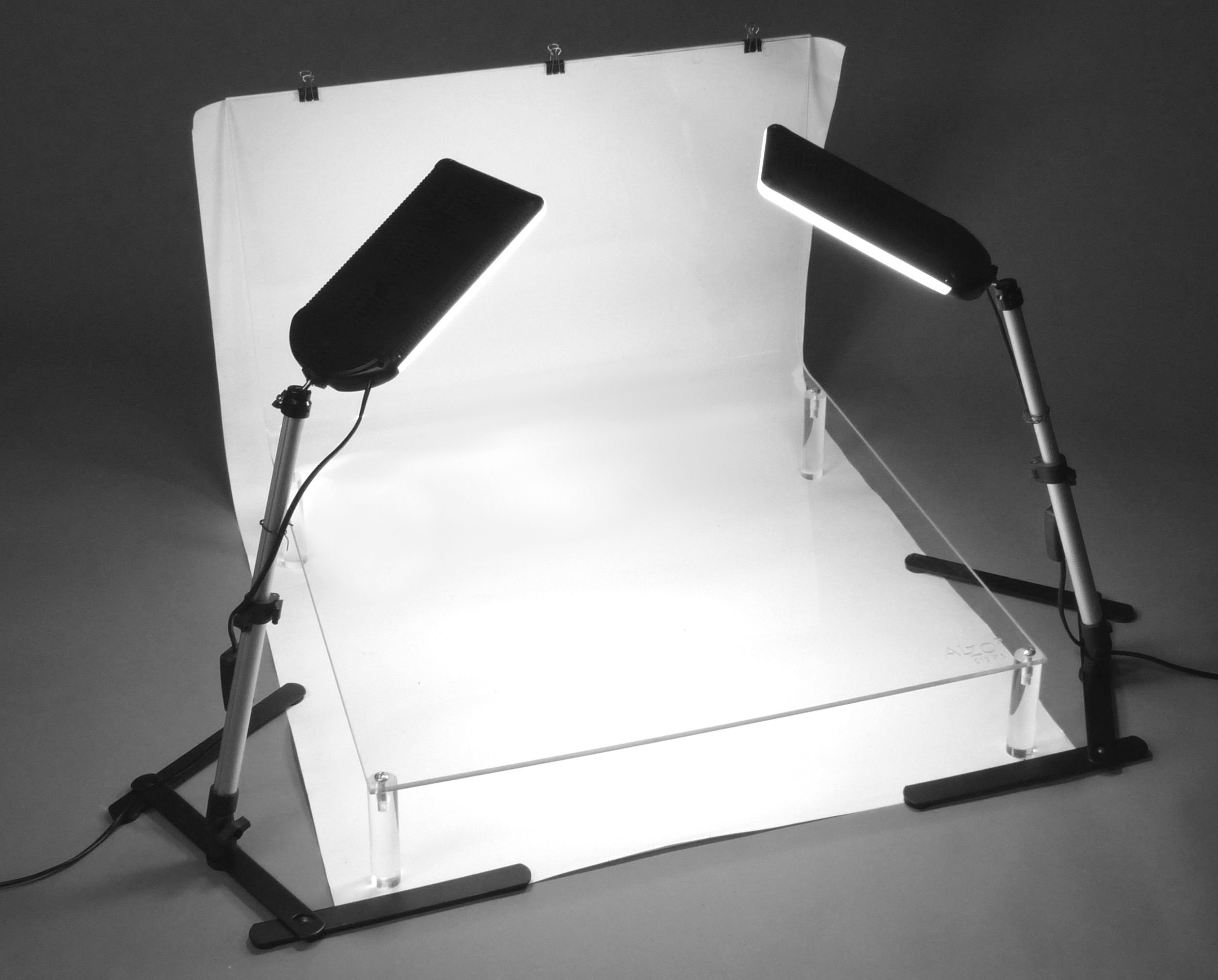 ALZO 100 LED Table Top Platform Light Kit - Shooting Table for Product Photography by ALZO Digital