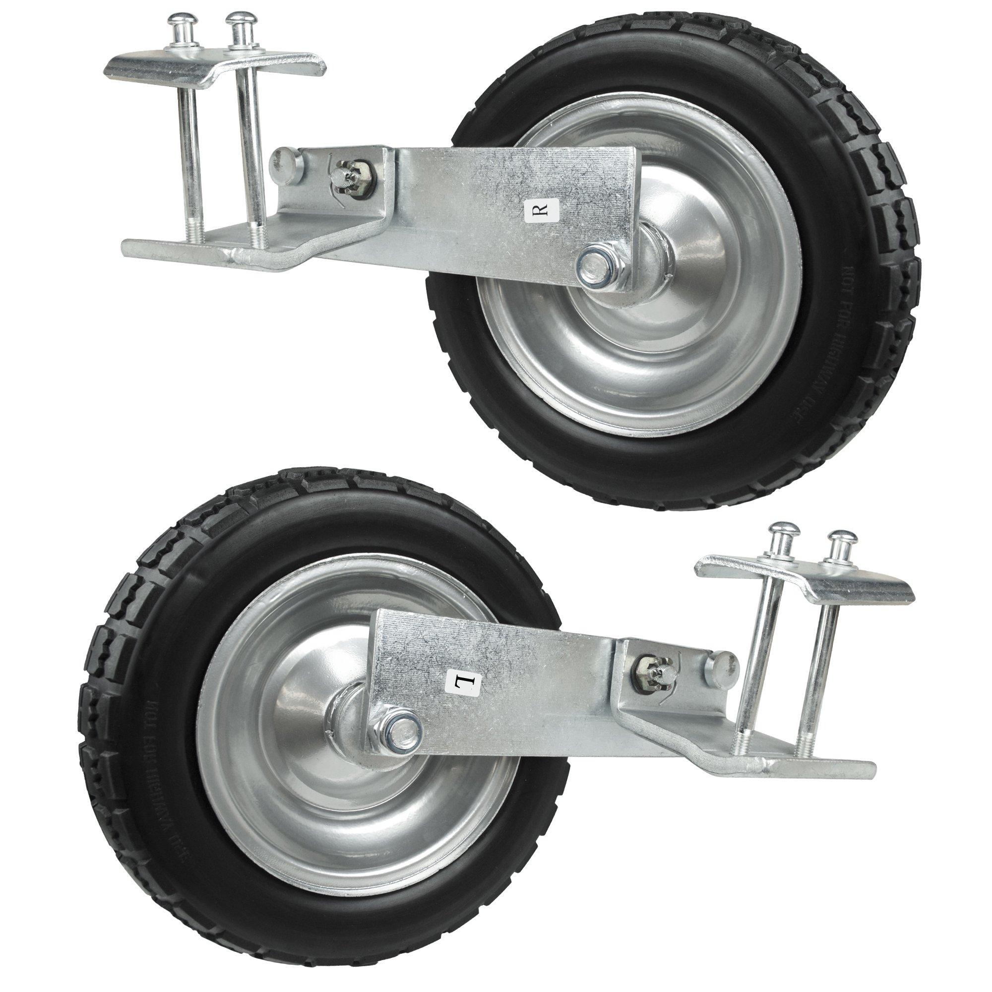 PU Tire Wheels for AGORA Premier Pro Soccer Goals - Set of 2