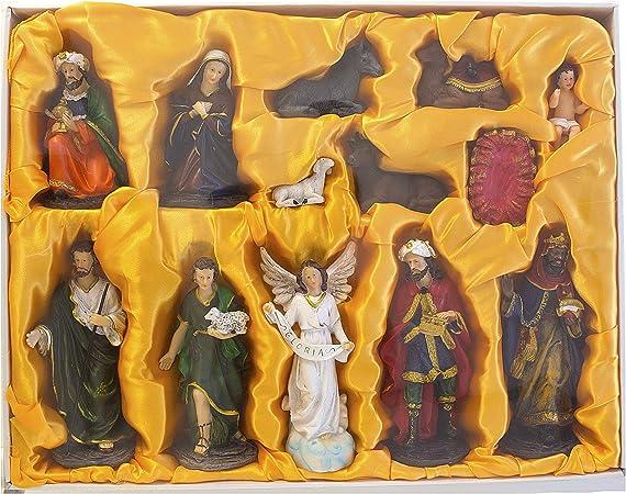 MEGA FAVORS - Set di statuine per presepe di Natale, Poliresina, 8