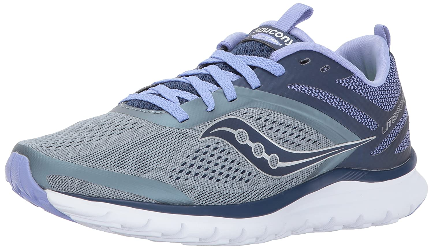 Saucony Women's Miles Sneaker B01NBN9Z4G 11 B(M) US|Grey/Purple