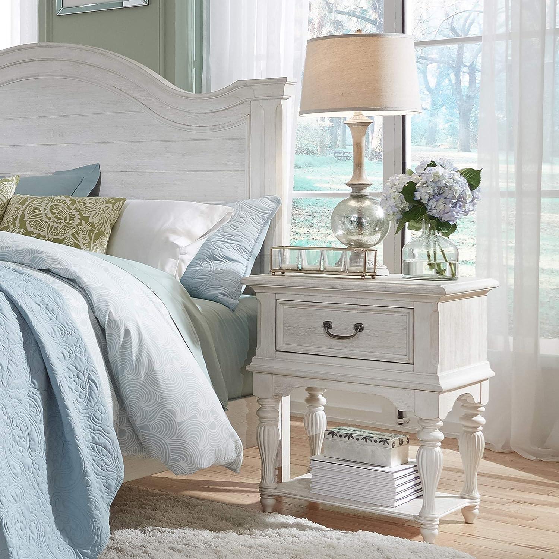 Liberty Furniture Industries Leg Night Stand, W24 x D17 x H30, White