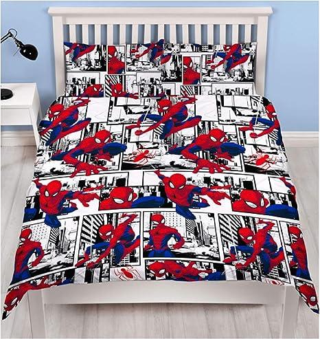Copripiumino Spiderman Una Piazza E Mezza.Hasbro Copripiumino 1 Piazza E Mezza Spiderman Reversibile Amazon