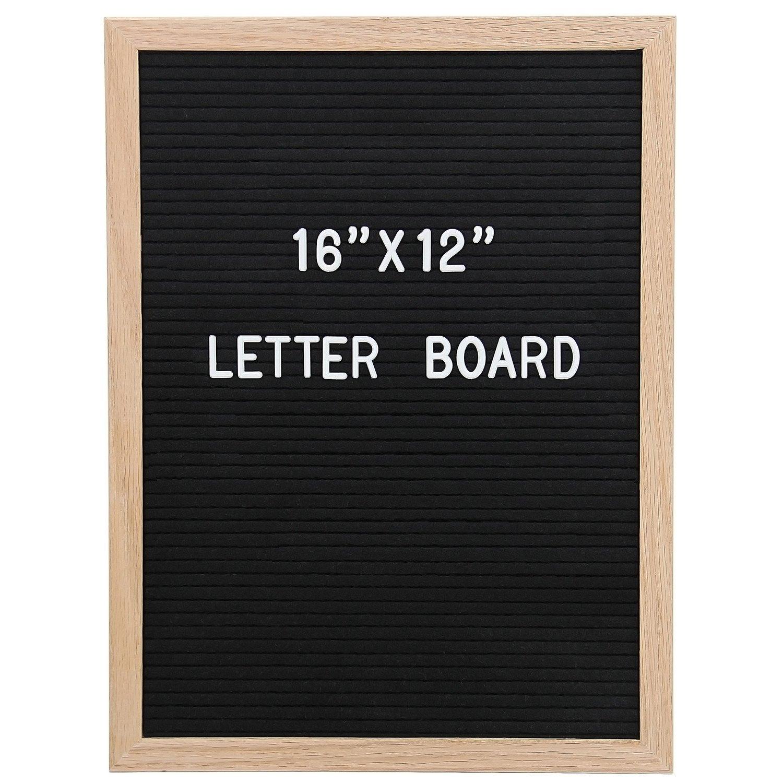 Amazon.com: Letter Board 12 x 16 Inches   Vagski Black Felt Letter