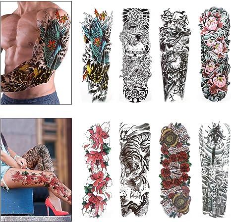 Konsait Full Brazo tatuajes temporales, Grande Tatuaje Temporales ...