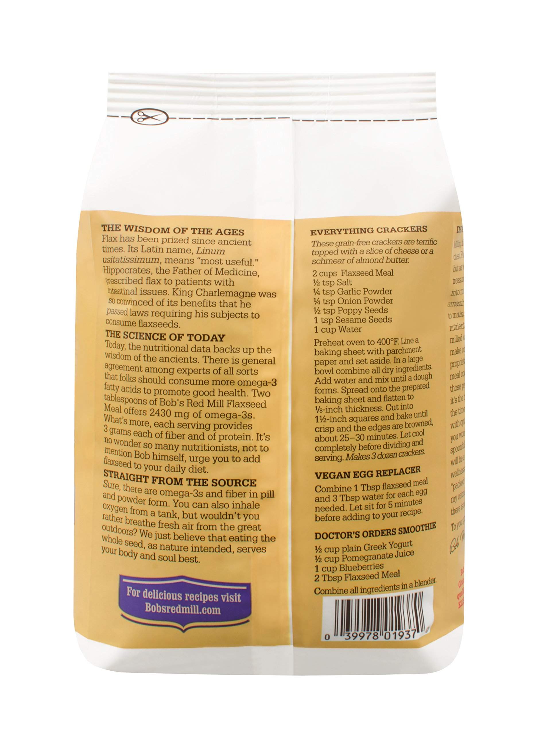Bob's Red Mill Organic Brown Flaxseed Meal, 32 Ounce (Pack of 4) (Package May Vary) by Bob's Red Mill (Image #8)