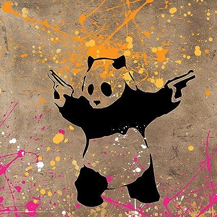 Banksy Panda Guns Decorative Graffiti Urban Animal Art Print Unframed X Poster