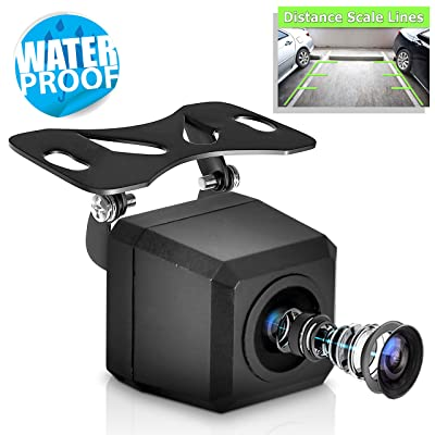 Universal Mount Front Rear Camera - Marine Grade Waterproof Built-in Distance Scale Lines Backup Parking/Reverse Assist Cam w/ Night Vision LED Lights 420 TVL Resolution & RCA Output - Pyle PLCM37FRV: PYLE: Car Electronics
