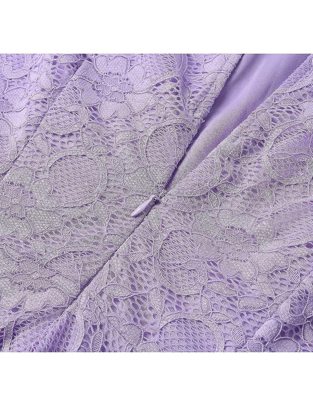 Dresstells Robe de soir/ée de Cocktail Robe de Demoiselle dhonneur asym/étrique col Rond sans Manches