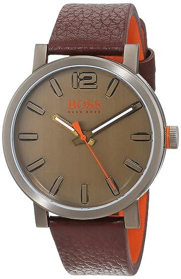 ab202612114 Hugo Boss Orange Mens Analogue Classic Quartz Watch with Leather Strap  1550036  Amazon.co.uk  Watches