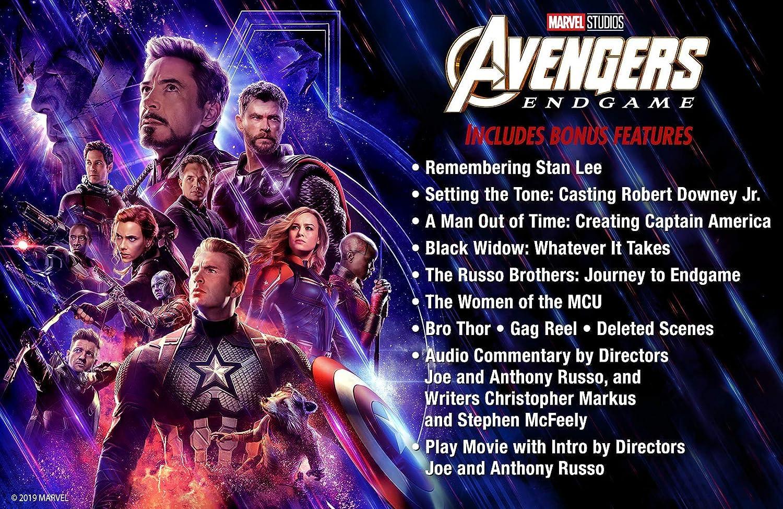 Avengers: Endgame Blu-ray Includes Bonus Disk 2019 Region Free