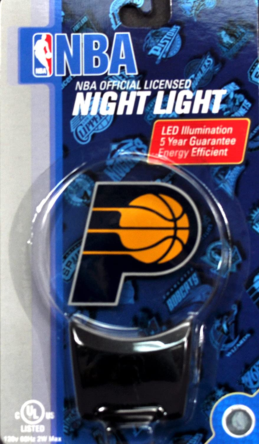 Authentic Street Signs NBA Officially Licensed-LED Night Light-Super Energy Efficient-Prime Power Saving 0.5 watt-Plug in-Great Sports Fan Gift for Adults-Babies-Kids Room (Indiana Pacers)