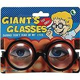 Bristol Novelty GJ231 Giants Glasses Party Accessory Set, Unisex-Adult, Black/Clear, One Size