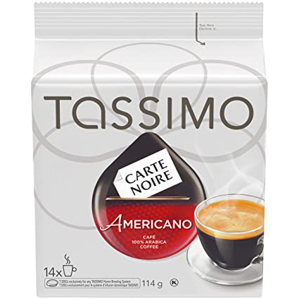 Tassimo Carte Noire Americano Coffee, Single Serve T-Discs ...